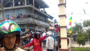 poto kerusuhan di Mapolres Meranti, Riau Daratan