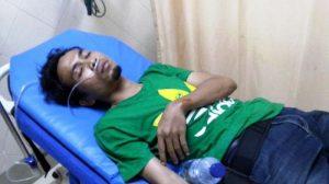 Poto wartawan  korban penganiayaan TNI AU dan Paskhas Lanud Medan