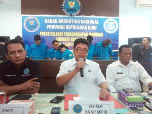 Kombes polisi Benny Setiawan saat memberikan keterangan pers (dok)