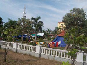 Poto: Tenda tenda darurat yang ditempati 96 pengungsi Asing Yakni Sudan, Somalia dan Afganistan (dok)