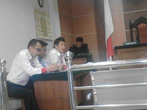 Poto : Tantimin SH, MH dalam proses sidang di Pengadilan Negeri Batam.