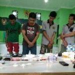 Intel Kodim 0315 Bintan Tangkap Lima Orang Terduga  Bandar Narkoba