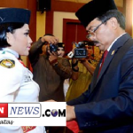 Gubernur Kepri Nurdin Basirun Kukuhkan Pasukan Paskibraka Kepri