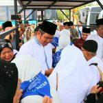 Bupati dan Wakil Bupati Bintan Sambut Jamaah Haji Kabupaten Bintan