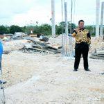 Tinjau Stadion Olahraga, Bupati Bintan berharap Pekerjaan Stadion Selesai Tepat Waktu