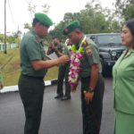 Kolonel Inf Gabriel Lema di Sambut Tradisi Korps Danrem 033/Wira Pratama