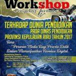 Ketua Dewan Pers dan Ketum IWO Narasumber Workshop Perspektif Jurnalis di Tanjungpinang