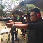 Pengurus IWO Tanjungpinang Ikuti Latihan Tembak Lanudal