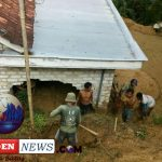 Tebing Longsor Terjang Sebuah Rumah Warga