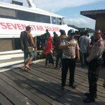 KKP Pelabuhan Letung Gelar Giat Penjagaan dan Bantu Penumpang