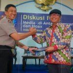 Polri Sanjung Diskusi IWO, Kombes Slamat Minta wartawan Kedepankan Profesionalisme