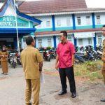 Bupati Bintan Apri Sujadi  Pantau Lahan Parkir RSUD Bintan