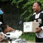 Bekerjasama Polsek Tebing, Ormas dan Pelajar Galang Dana Bantuan  Korban Gempa NTB