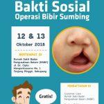 Gratis ! BP Batam Gelar Baksos Operasi Bibir Sumbing dan Bersih Telinga