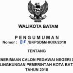 Pemko Batam Buka Penerimaan CPNS 2018