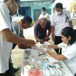 Satlantas Polres Karimun Periksa Kesehatan Supir Angkot
