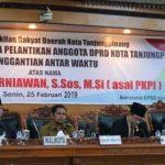 DPRD Kota Tanjungpinang Menggelar Rapat Paripurna Penggantian Antar Waktu
