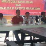 Diskusi Terbuka Aktivis Mahasiswa Minta Depson Dibebaskan