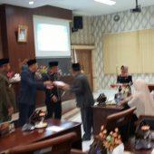 DPRD KKA Gelar Paripurna Ranperda Pertanggung Jawaban Pelaksanaan APBD TA 2018 dan Inisiatif DPRD Tentang Tanggungjawab Sosial Perusahaan