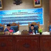 DPRD KKA Gelar Paripurna  Persetujuan Penanggulangan Bencana dan Penyampaian Pandangan Umum APBD 2018