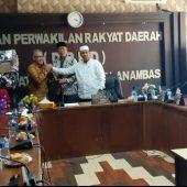 Kanwil Kemenkumham Provinsi Kepri dan DPRD Anambas Gelar Pertemuan Bahas Produk Hukum