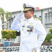 DANLANTAMAL IV PIMPIN UPACARA HUT KE 74 TNI AL