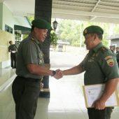 Dandim 0315 Bintan Pimpin Upacara Korp Raport Kasdim 0315/Bintan