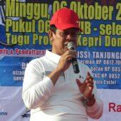 Danrem 033/WP dan Plt Gubernur Kepri Lepas  Fun Bike dan Senam Sehat Sempena HUT Kepri Ke 17 dan HUT TNI Ke 74