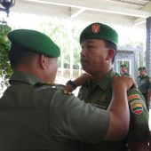 Kasdim 0315/Bintan Pimpin Upacara Korp Raport Kenaikan Pangkat Prajurit