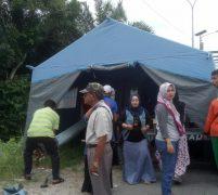 Warga Desa Panjang Dirikan Posko Penanganan Korban Banjir