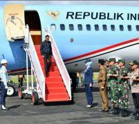 Kapolda Kepri Sambut Kedatangan Presiden Jokowi di Natuna