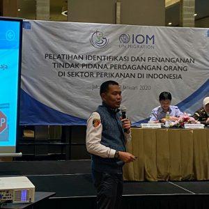 Dirreskrimum Polda Kepri Narasumber Pelatihan Indentifikasi dan Penanganan Tindak Pidana Perdagangan