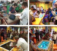 Pol PP Pelelawan Segel Dua Lokasi Gelanggang Permainan, Diduga Tempat Perjudian