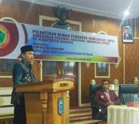 Hadiri Pelantikan Pengurus PPNI,  Adirozal : Minta PPNI Bantu Pemda Kerinci Tingkatkan Layanan Kesehatan