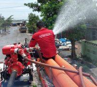 Tim Gugus Tugas Covid-19 Kota Medan Semprot Disinfektan di TPA Terjun
