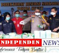 Polda Sunut Musnakan Narkoba, 91 kg Sabu, 49.847 butir Pil Ecstasy dan 323,103 kg Daun Ganja