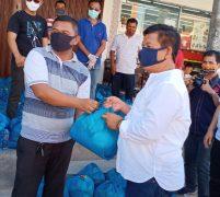 DPW PPTSB Kepri Bagikan Paket Sembako Kepada Warga Terdampak Covid 19 di Batam
