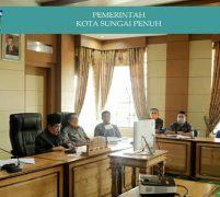 Walikota Sungai Penuh Ikuti Rakor Teleconfrensi Dengan Gubernur Jambi