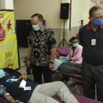 Tiga Pilar Kebon Jeruk Bersama PMI Gelar Baksos Donor Darah