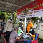 Sambut Bhayangkara Ke 74 Tahun, Polres Kepulauan Anambas Melakukan Kegiatan Bhakti Kesehatan Rapid Test Gratis