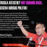 Ketua DPC PDIP Kota Tangerang Selatan Wanto Sugito Minta Ketum Partai Demokrat AHY Banyak Baca Buku Sejarah