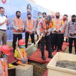 KapoldaSumut Letakkan Batu Pertama Pembangunan Rusun dan Fasumdit Samapta Polda Sumut