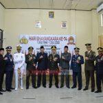 DANLANAL RANAI HADIRI UPACARA PERINGATAN HUT KE-74 BHAYANGKARA DI MAKO POLRES NATUNA