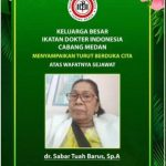Ketua IDI Medan dr Wijaya Jumarna : Akibat Covid 19, 8 Dokter Medan Meninggal