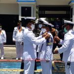 Memperkuat Pertahanan Laut di Perairan Natuna,. Danlanal Kukuhkan Babinpotmar Lanal Tarempa