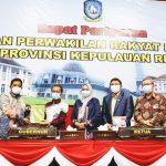 Tanda Tangan Nota Kesepahaman Bersama DPRD Kepri dan Pemprov Kepri KUA-PPAS TA 2021