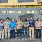 Pimpinan Organisasi F-SPTI Kabupaten Batubara Kunjungi Polres Batubara