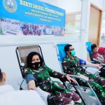 Jelang HUT ke 58 Korps Wanita TNI Angkatan Laut Gelar Baksos Donor Darah