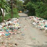 Tumpukan Sampah Berserak di Jalan Perkasa Tanjung Gusta Timbulkan Volusi Udara Bau Busuk Menyengat