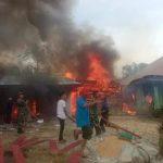 Kebakaran di Desa Siboras Sidikkalang 3 Rumah Hangus Terbakar